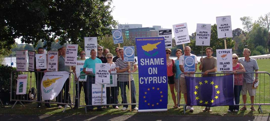 Cyprus buyers stage protest at overseas property show
